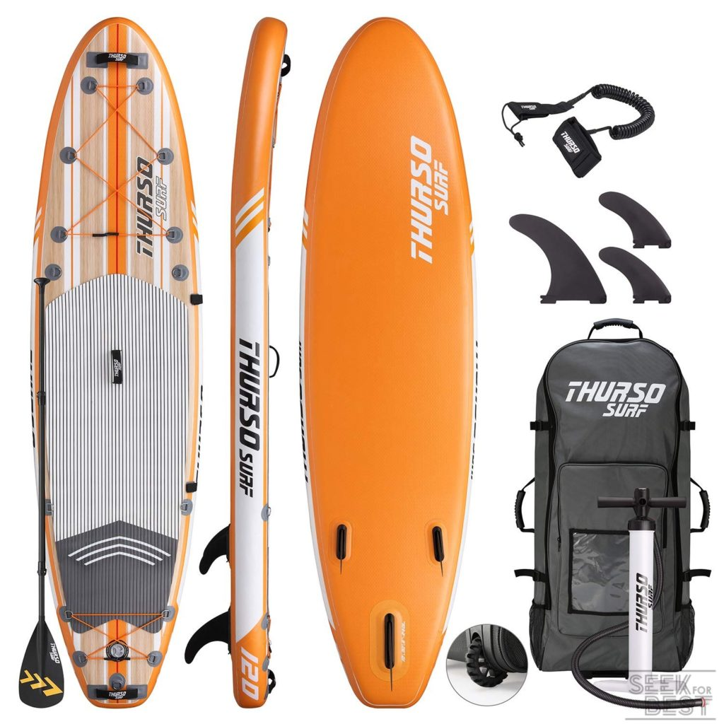 11. THURSO SURF Waterwalker Inflatable Stand Up Paddle Board