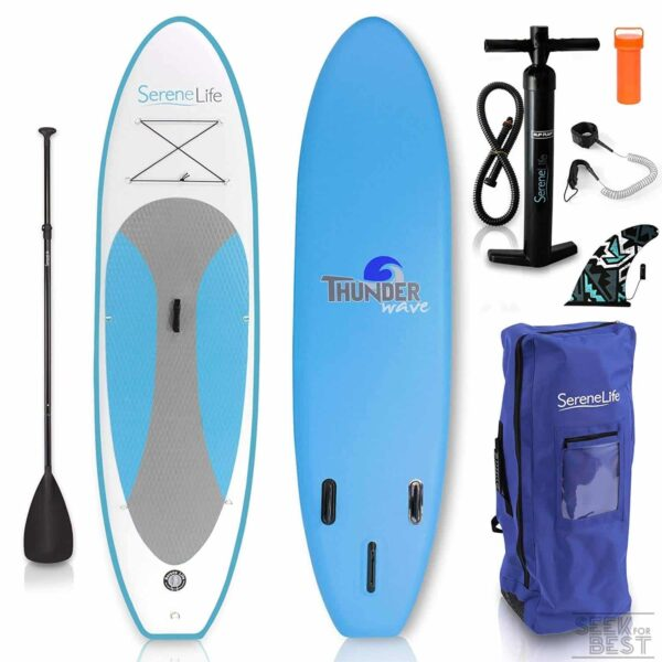 5. SereneLife Inflatable Stand Up Paddle Board