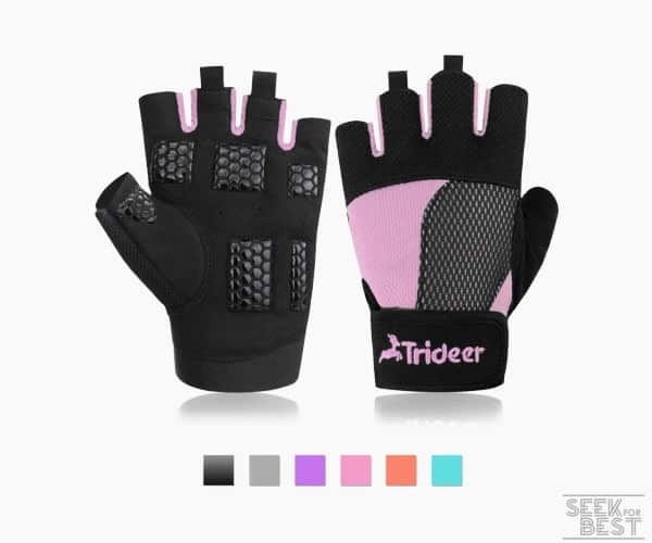 1. Trideer Weight Lifting Gloves