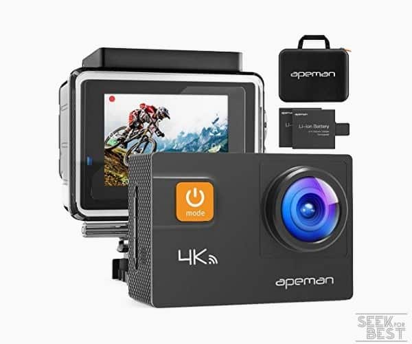 1. APEMAN A80 Action Camera - Overall best vlogging camera under 100$