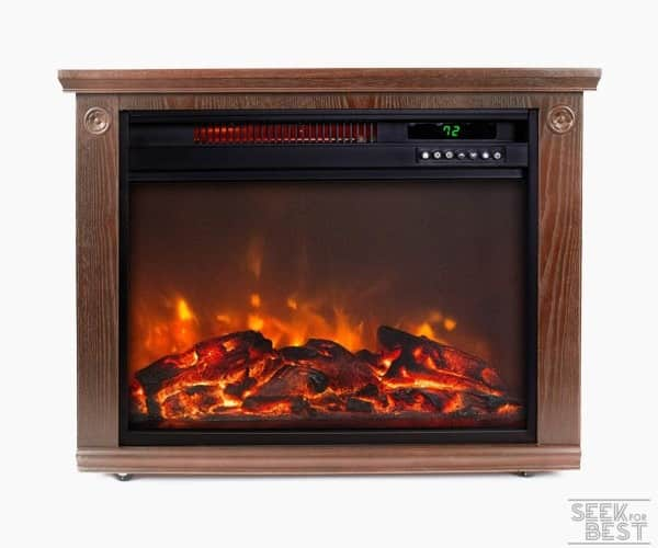 2. Lifesmart Fireplace Infrared Heater