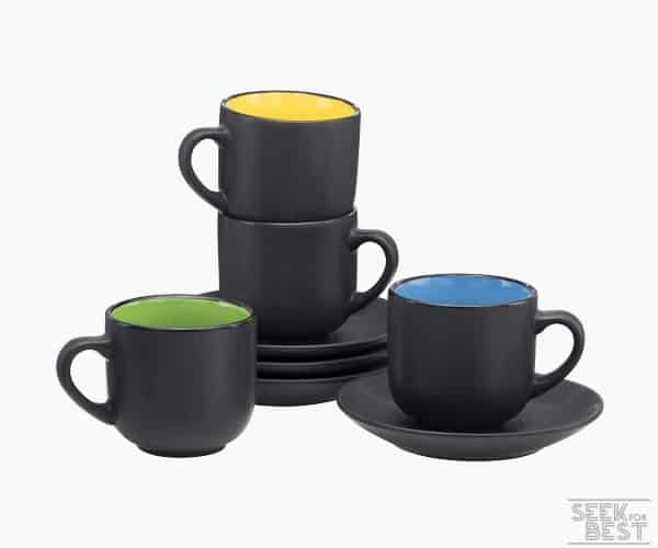 7. Bruntmor Espresso Cups and Saucers