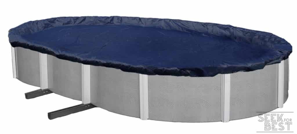 8. Blue Wave Silver Oval Above-Ground Pool Cover