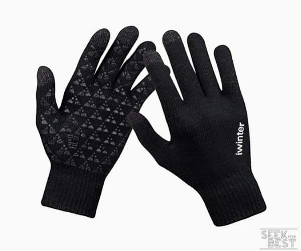 9. Anqier Knit Running Gloves