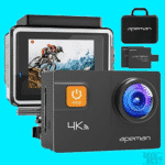 APEMAN Action Camera 4K 20MP WiFi Ultra HD Underwater Waterproof 40M Sports Camcorder with 170 Degree EIS Advanced Sensor