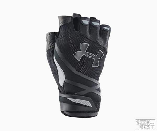 4. Under Armour Men's Resistor Half-Finger Training Gloves