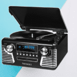 Victrola 50's Retro Record Player with Stereo