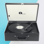 Suitcase-style Turntable w/ Speaker by 1byone