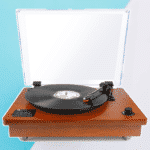 Belt Driven Turntable w/ Built-in Stereo Speaker by 1byone