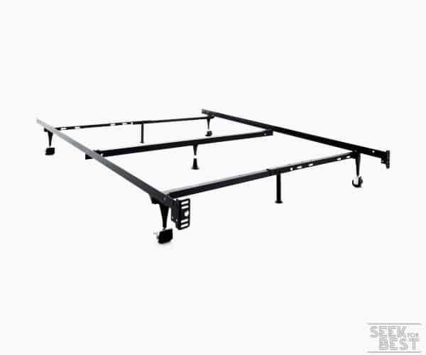 13. Malouf Heavy-Duty Adjustable Metal Bed Frame