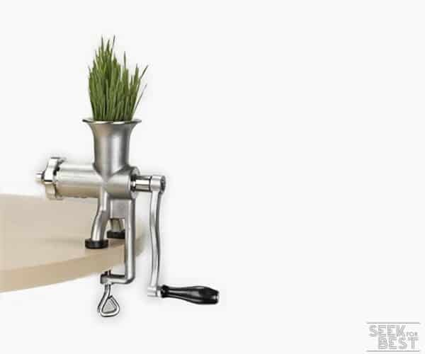 7. MIRACLE MJ445 MANUAL WHEATGRASS JUICER
