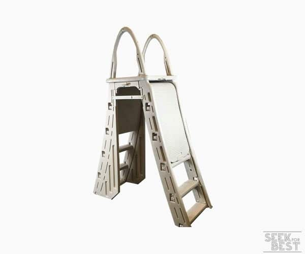 5. Confer Plastics A-Frame Above Ground Pool Ladder
