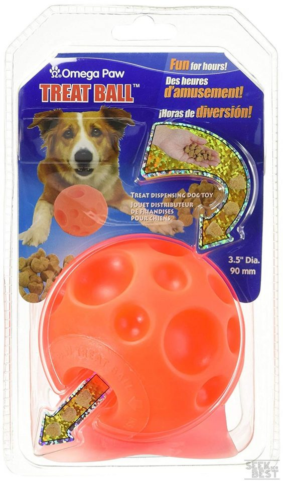 3. Omega Paw Tricky Treat Ball