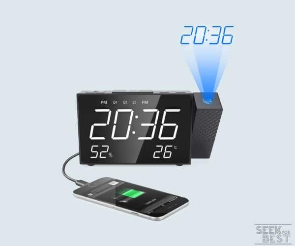 Ecwin Projection Alarm Clock