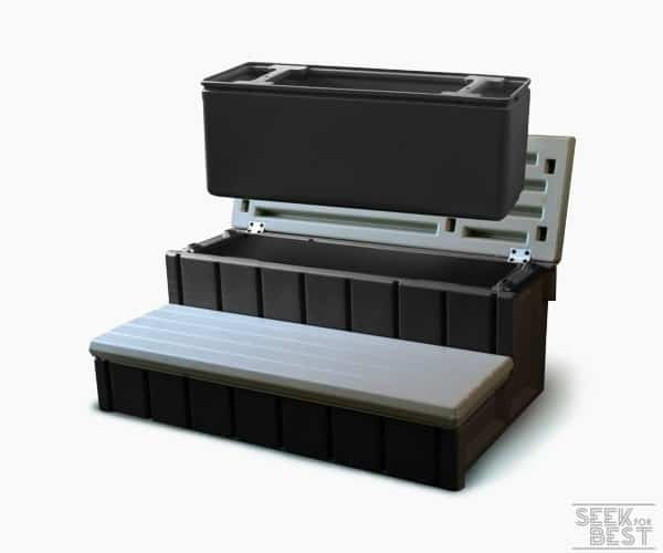 2. Confer Plastics Spa Step w/ Storage