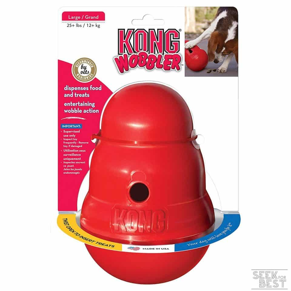 9. Kong Wobbler Treat Dispensing Toy