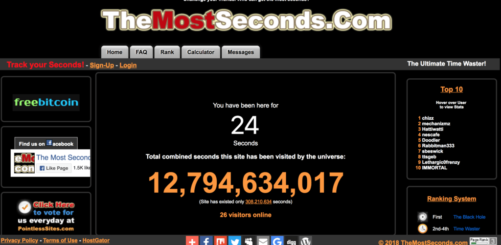 http://themostseconds.com/