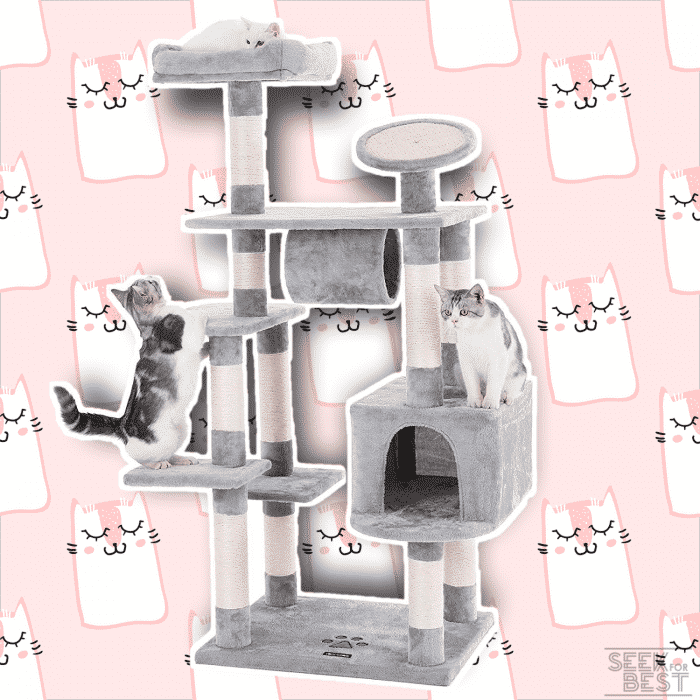 "SONGMICS 62"" Large Cat Tree Condo"