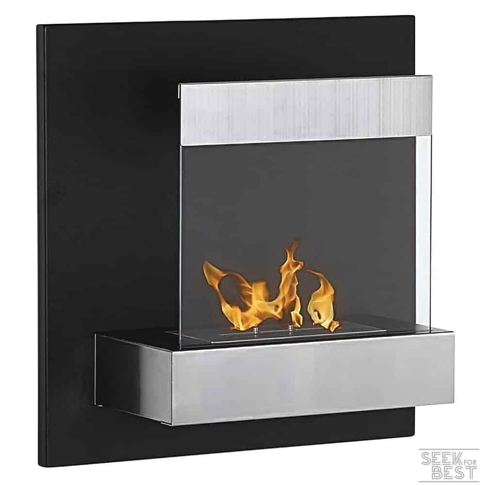 Moda Flame Faro Wall Mounted Ethanol Fuel Fireplace