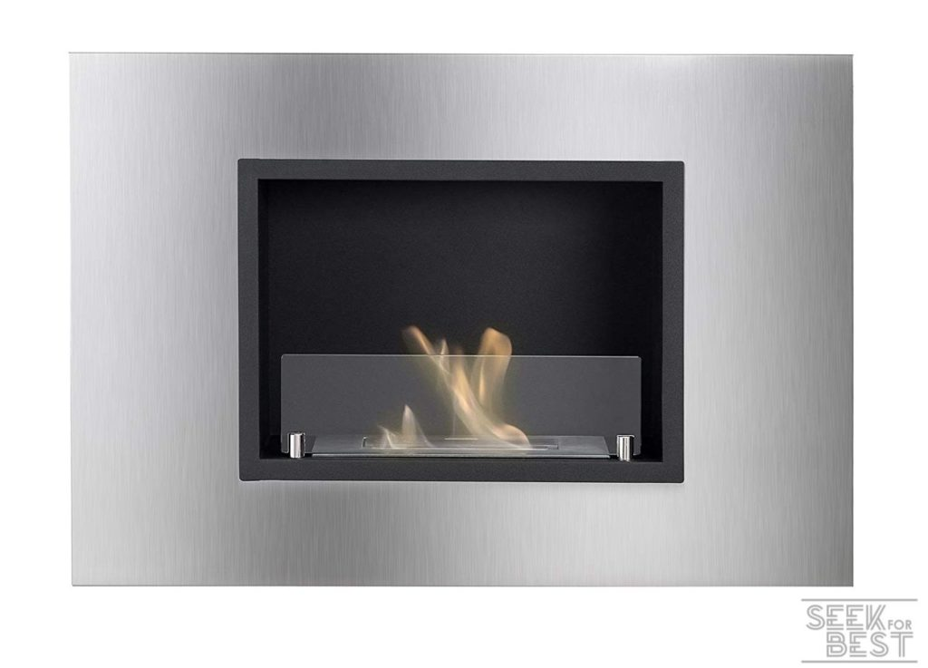 Ignis Quadra Recessed Ethanol Fireplace with Safety Glass