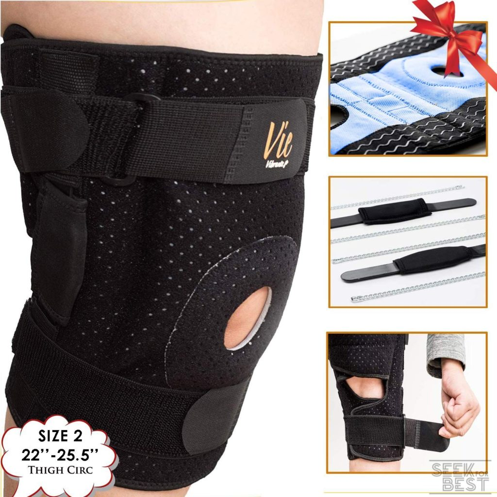 4. VieVibrante Hinged Knee Brace Plus Size