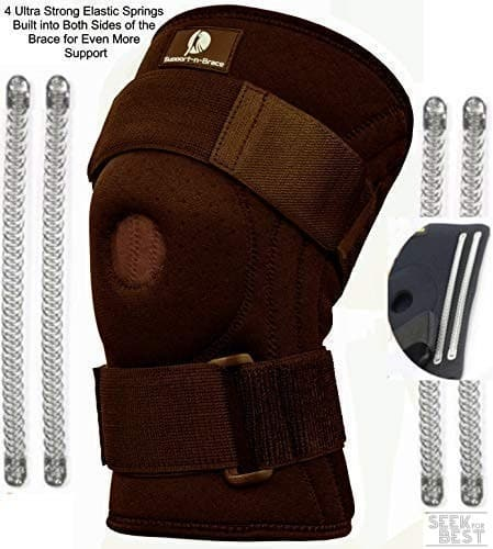 Support-n-Brace Knee Brace plus Compression Knee Sleeve