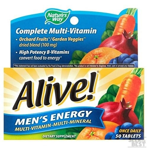 Nature's Way Alive Men's 50 Mineral Tablets and Plus Multivitamin