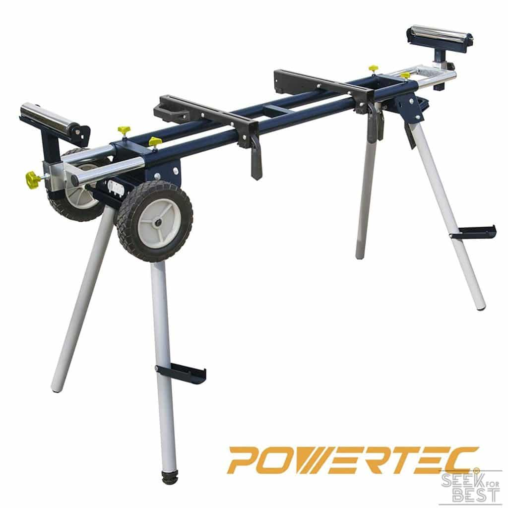 7. POWERTEC MT4000 Deluxe Wheeled Miter Saw Stand