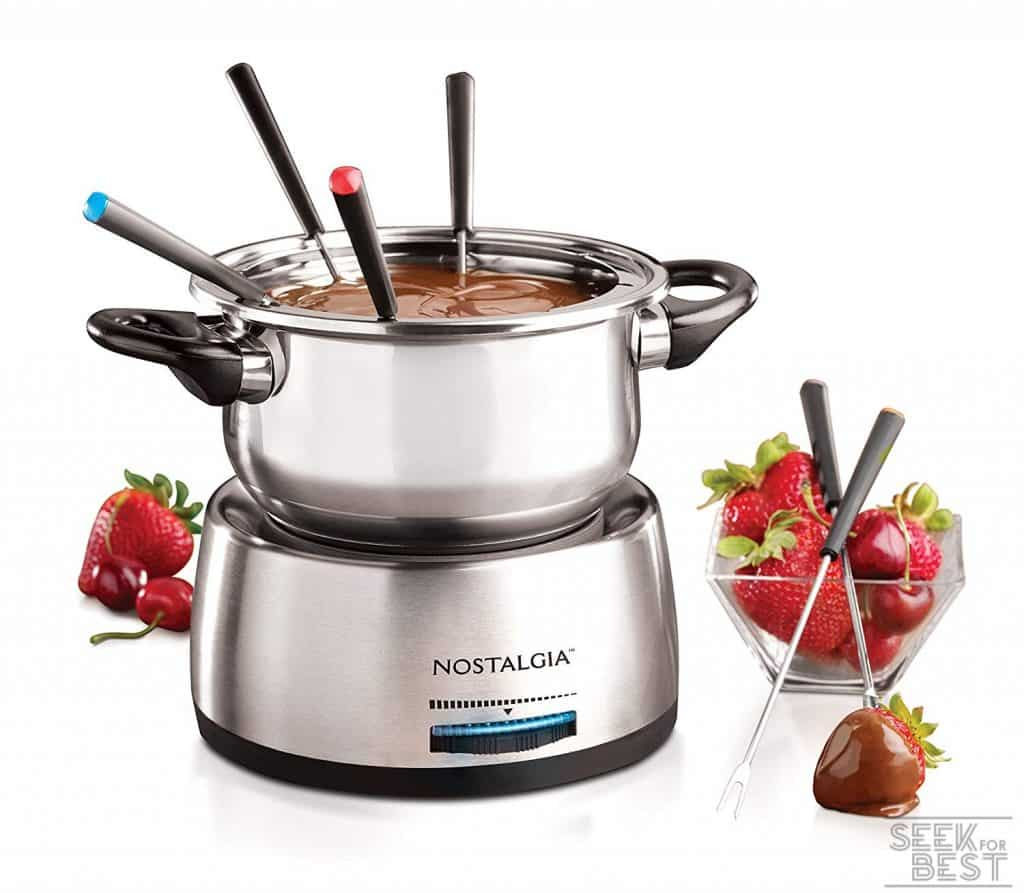 8. Nostalgia FPS200 Stainless Steel Electric Fondue Pot