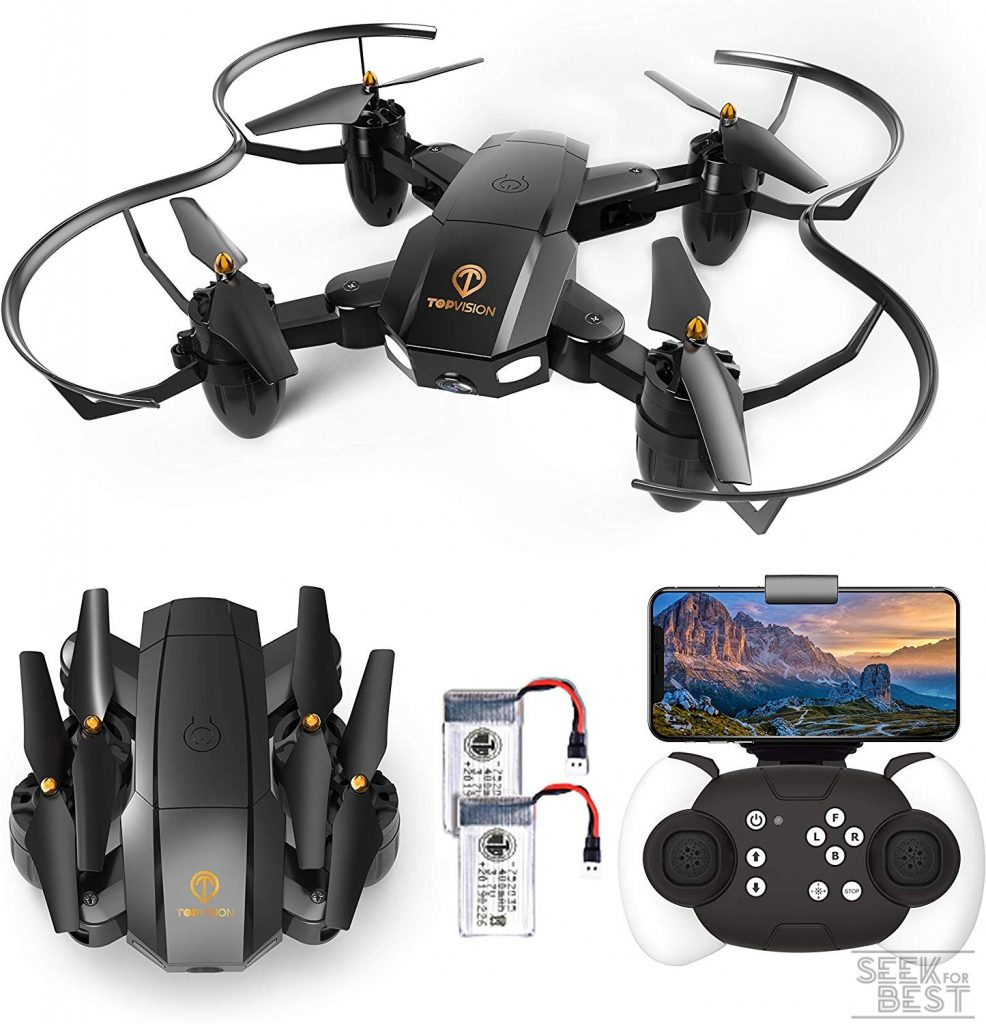 10. TOPVISION Foldable Quadcopter RC Drone