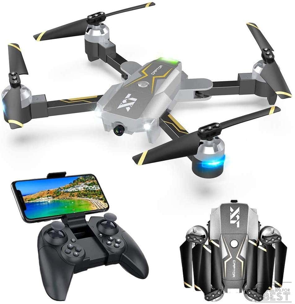 4. Attop WiFi FPV Drone with Camera 720P HD, RC Drone