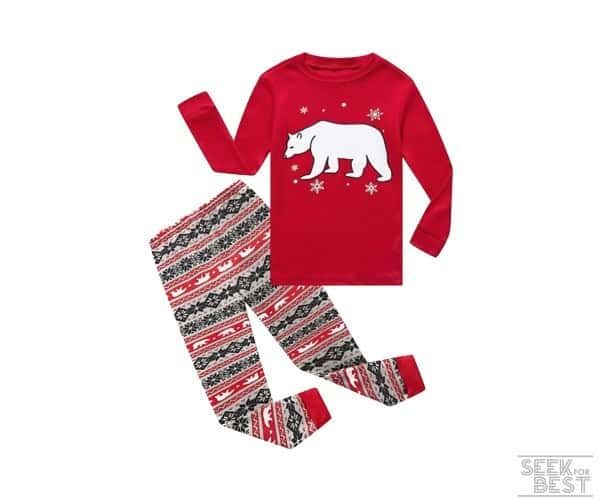 10. Little Pajamas Toddler 2-Piece Christmas Pajama