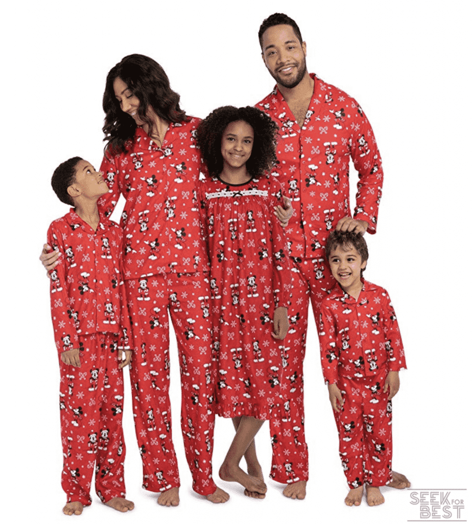 20. Disney Mickey Mouse Christmas Holiday Family Sleepwear Pajamas