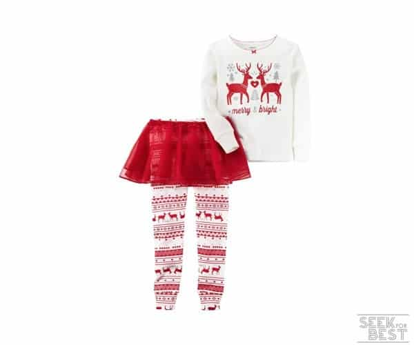 11. Carter's Girls' Tutu Christmas Pajama Set