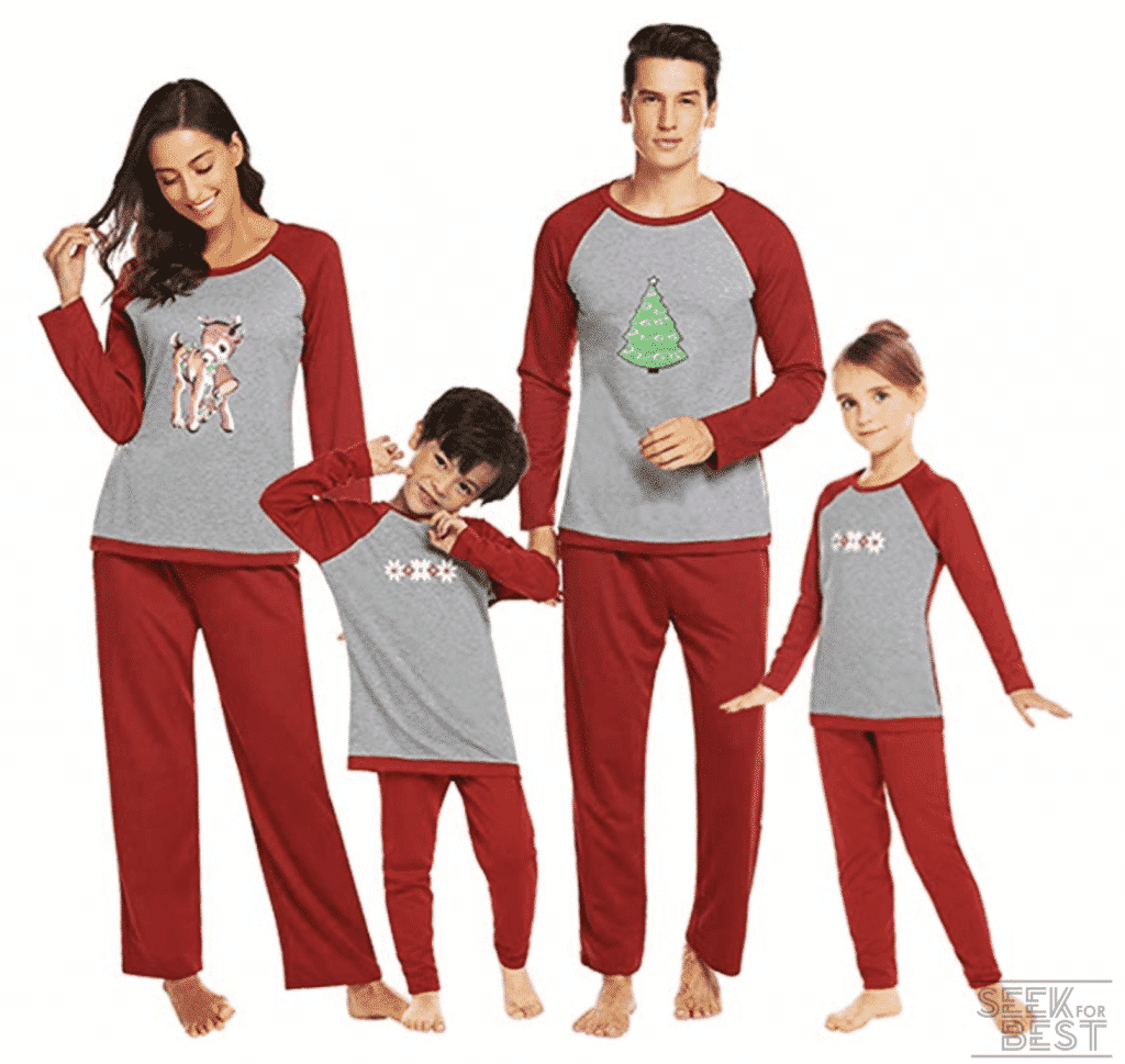 11. Ekouaer Matching Family Pajamas Set