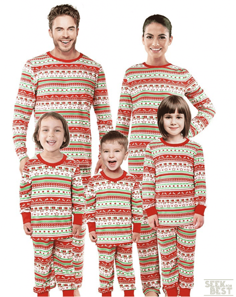 31. SUNNYBUY Christmas Family Matching Pajama Set