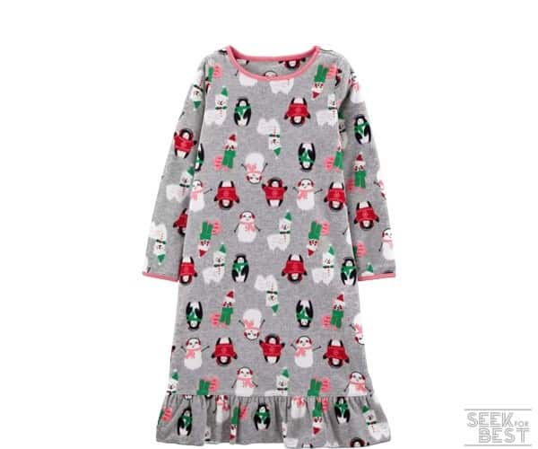 13. Carter's Girls' Christmas Gown