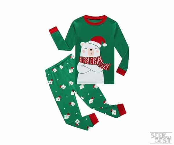 15. Family Feeling Christmas Bear Pajama Set