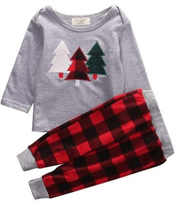 20. HappyMa 2-Piece Toddler Pajama Set