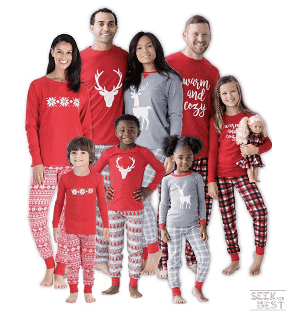 2. SleepytimePJs Christmas Family Mix and Match Red Holiday Pajama