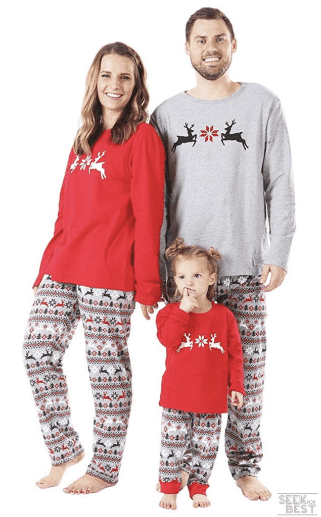 13.BOBORA Christmas Pajamas for Family