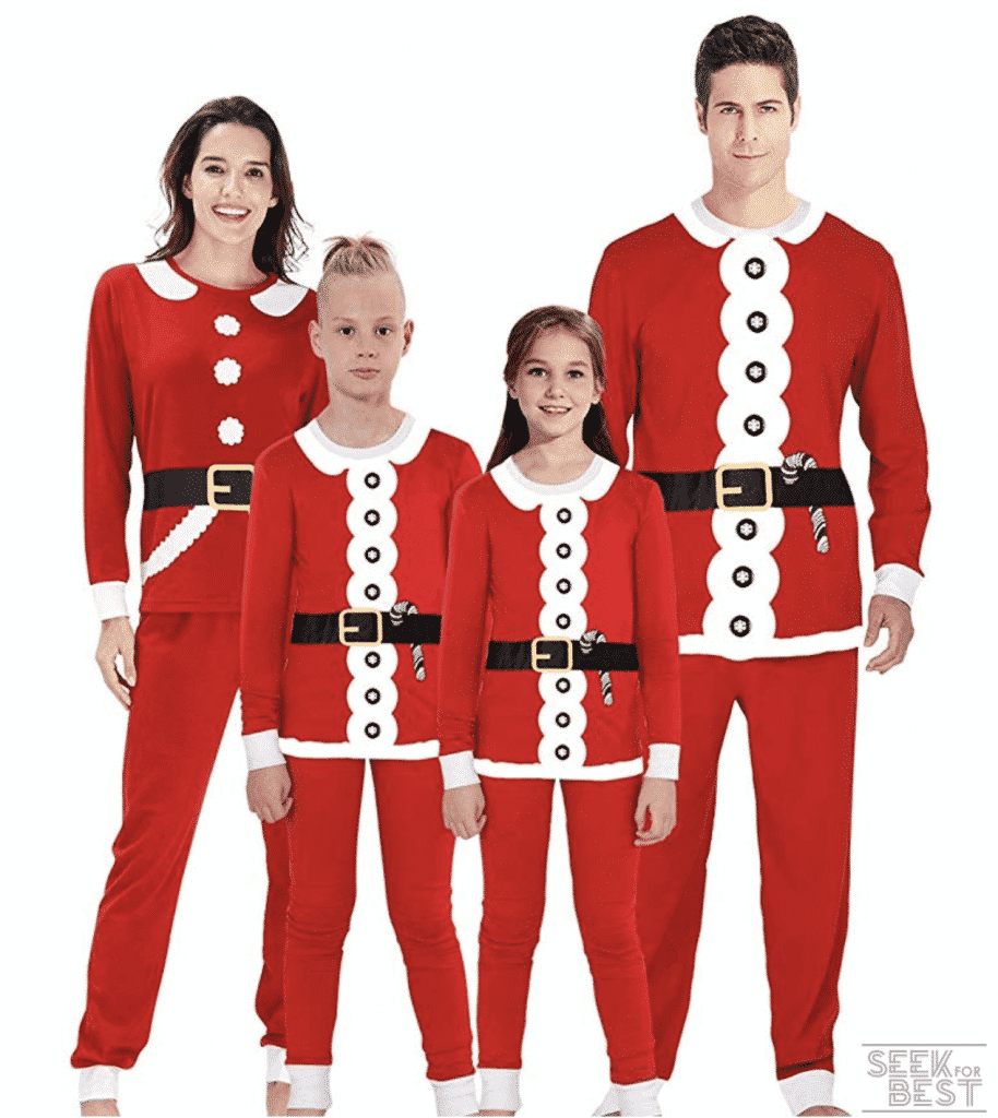 33. Uideazone Family Matching Christmas Pajamas Set