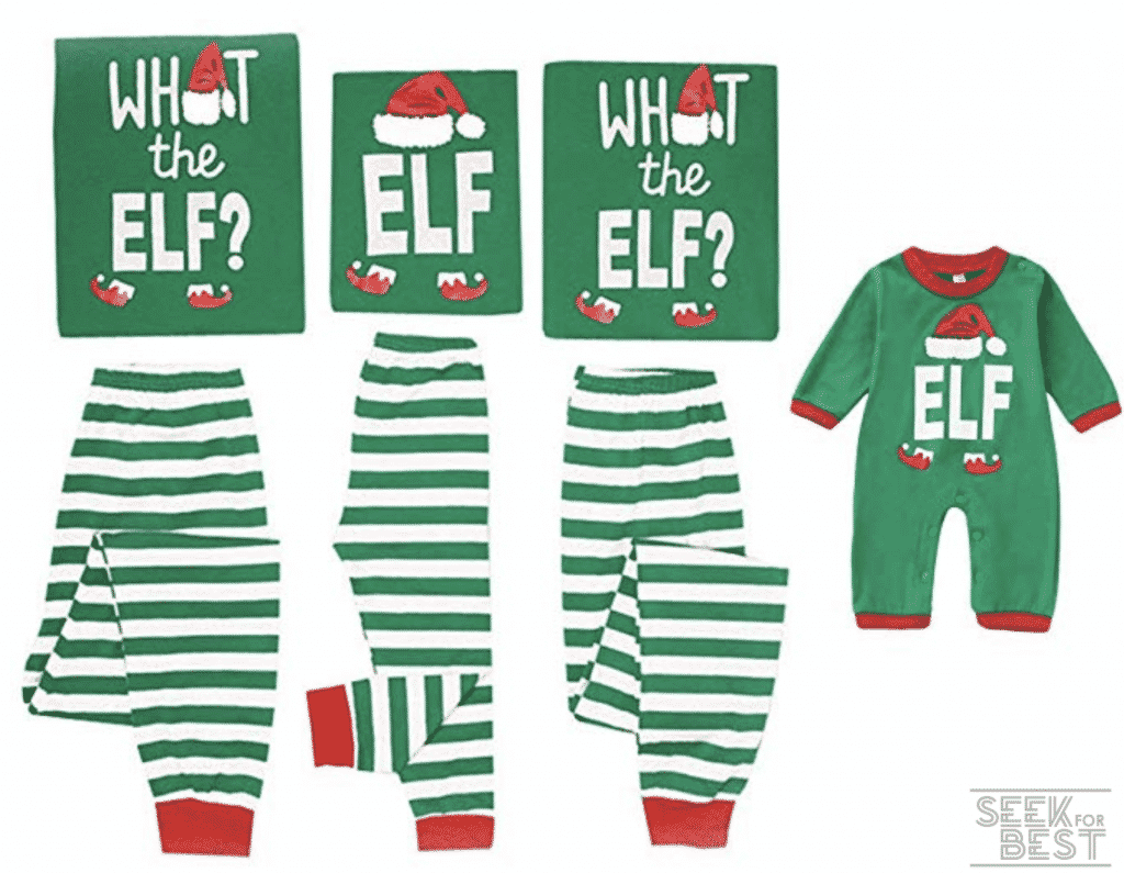 14. Mikrdoo Family Matching Christmas Pajamas