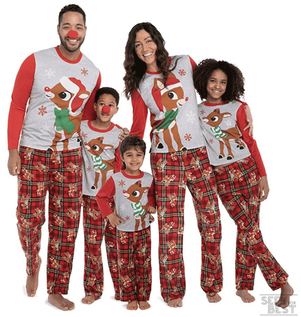24. Rudolph the Red-Nosed Reindeer Christmas Holiday Family Sleepwear Pajamas