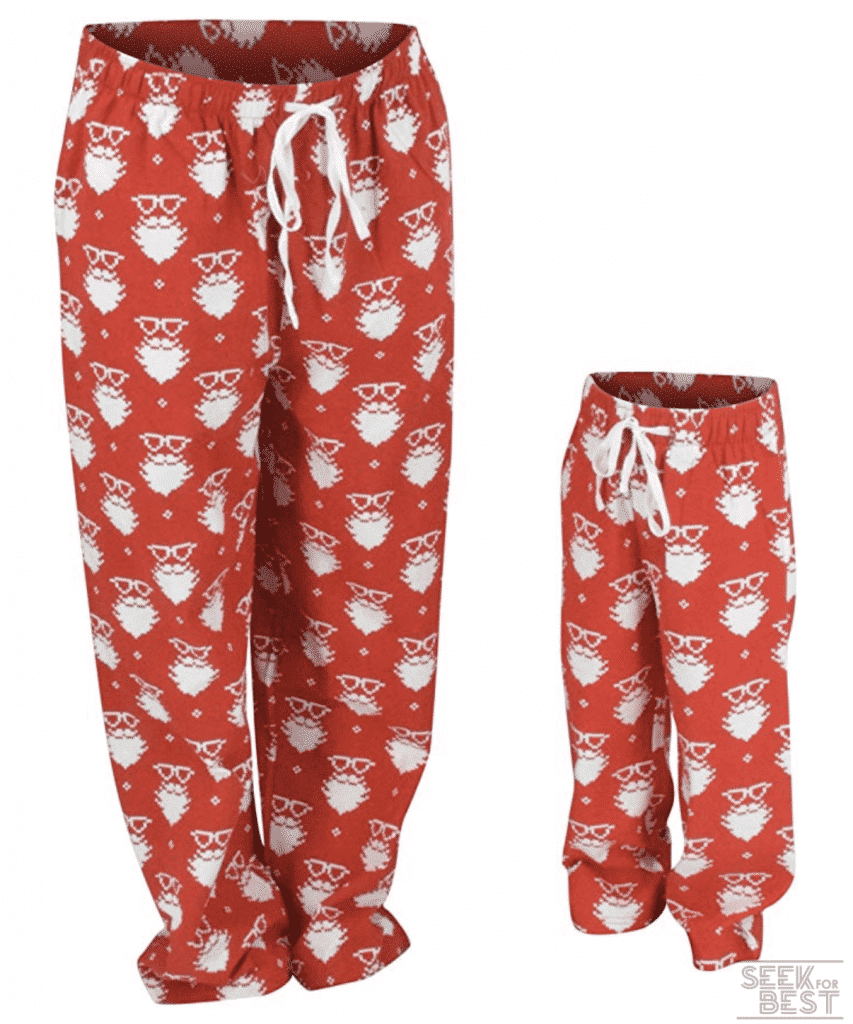 16. Unique Baby Christmas Santa Matching Family Pajama Pants