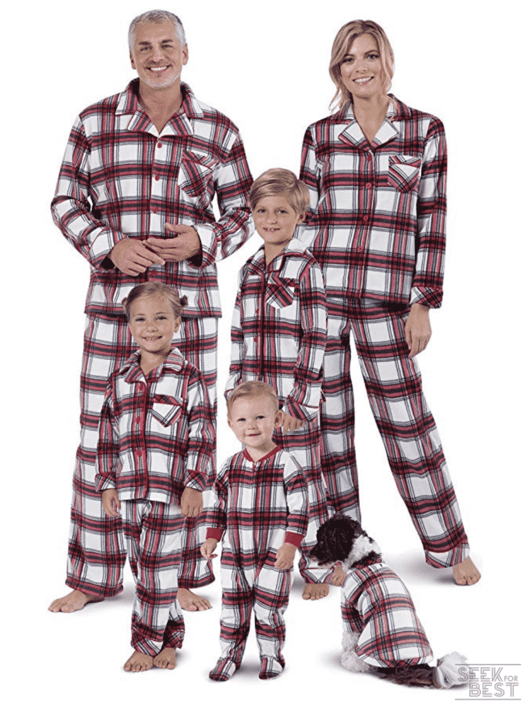 6. PajamaGram Fleece Matching Christmas Pajamas