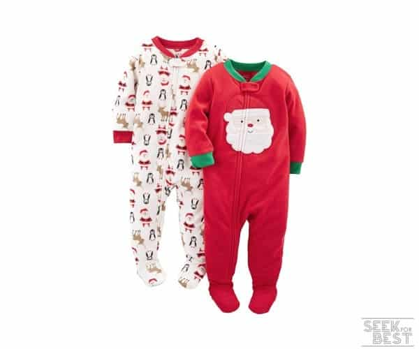 7. Simple Joys by Carter's Baby 2-Pack Christmas Onesies