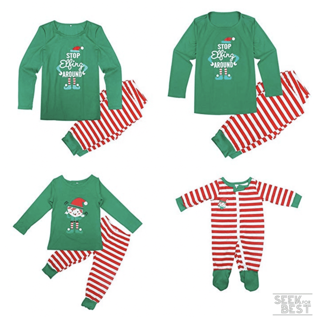 7. Camidy Family Matching Christmas Sleepwear Set