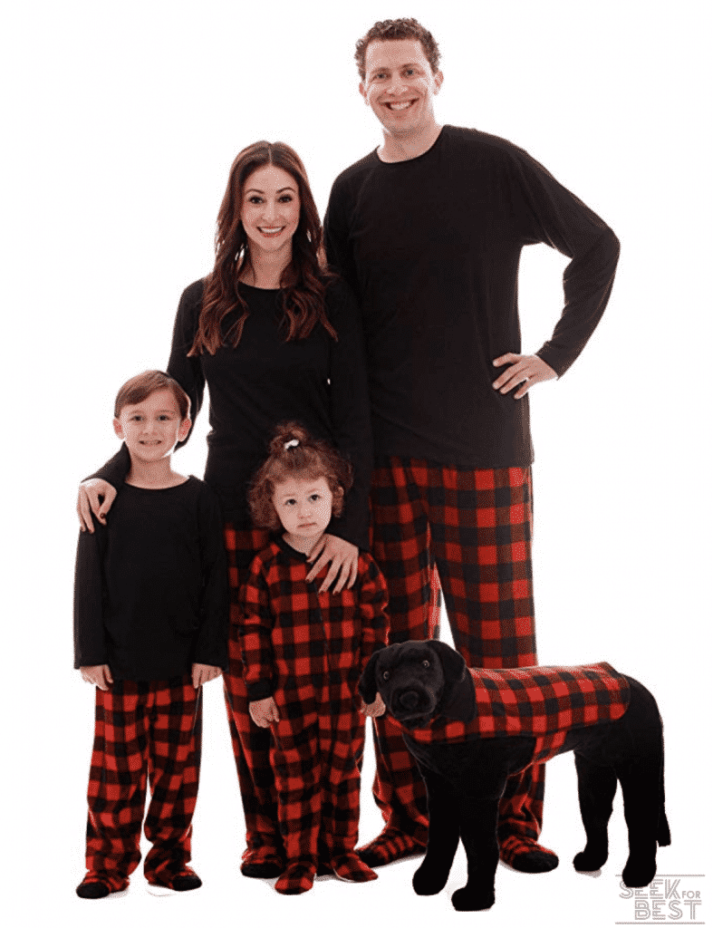 8. #followme Matching Buffalo Plaid Pajamas