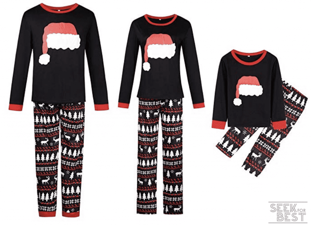 29. Happyjiu Christmas Holiday Family Matching Sleepwear Pajamas Set